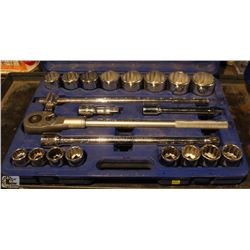 "COMPLETE SET OF WESTWARD 3/4"" SOCKET SET"