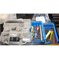 LOT OF 3 ORGANIZERS W/ ASSORTED DRIVER BITS,
