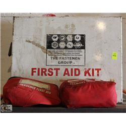 1 LARGE & 2 SMALL FIRST AID KITS