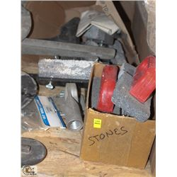 LOT OF ASSORTED SIZE & GRIT CONCRETE RUB BRICKS