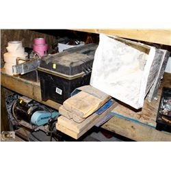 LOT OF ASSORTED DRYWALL TOOLS & SUPPLIES