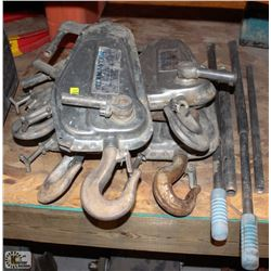 LOT OF 5 TIRMASTER CABLE WINCHES