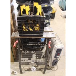 JOBMATE FOLDING WORK TABLE W/ DEWALT MITER