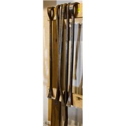LOT OF 6 ASSORTED CROWBARS