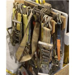 LOT OF ASSORTED INCOMPLETE RATCHETS TIEDOWNS