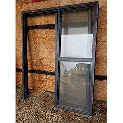 2 STEEL DOOR FRAMES W/ SIDELITE