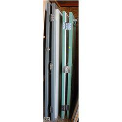 LOT OF 5 ASSORTED SIZE WOODEN DOORS