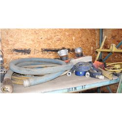 LOT OF ASSORTED SIZE PUMP HOSE &