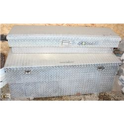 LOT OF 2 ALUMINUM PLATED TOOL BOXES