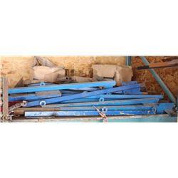 BLUE SAFETY RAIL