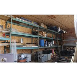 4 SECTION OF BLUE PALLET RACKING & 1 SECTION OF