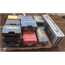 PALLET OF ASSORTED EMPTY TOOL CASES