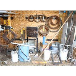ASSORTED REBAR PILE RINGS, ASSORTED METALS &