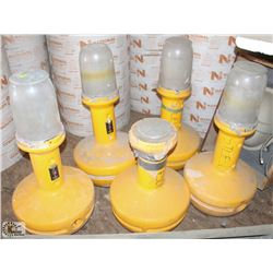 LOT OF 5 MOVEABLE WOBBLE LIGHTS