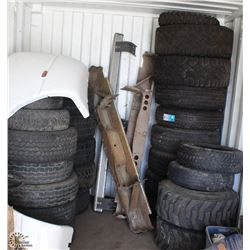 LOT OF 23 ASSORTED RIMS & TIRES