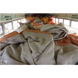 OVER 50 ASSORTED SIZE INSULATED TARPS
