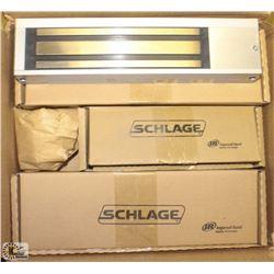 2 SCHLAGE MAGNETIC DOOR HOLD OPEN W/ HARDWARE