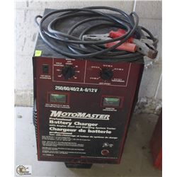 MOTOMASTER BATTERY CHARGER W/ ENGINE START