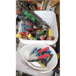 ASSORTED SHEARS, WIRE CUTTERS, PLIERS &