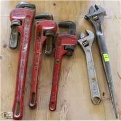 """2 PIPE WRENCHES, 10"""" CRESCENT & CRESCENT SPUD"""