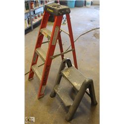 FEATHERLITE STEP LADDER W/ 2 FOOT STEP LADDER