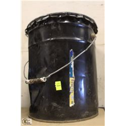 5 GALLON PAIL OF CONCRETE FOUNDATION TAR SEALANT