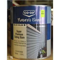 CO-OP SUPER PREMIUM CLEAR BASE SIDING STAIN
