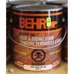 BEHR 3.6L DECK & SIDING TINT BASE STAIN