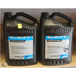 LOT OF 2 CERTIFIED 3.78L OF POWER STEERING FLUID