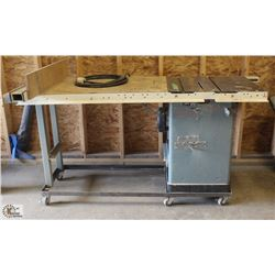"DELTA 12"" TABLE SAW W/ BIESEMEYER FENCE ON"