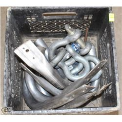 ASSORTED SIZE CLEVIS & WALL HOOKS