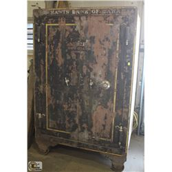 TWO COMPARTMENT CONCRETE STEEL SAFE