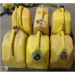 6 YELLOW JERRY CANS