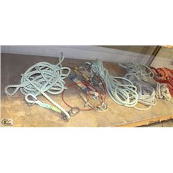 LOT OF ASSORTED SAFETY ROPES & LANYARDS