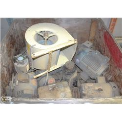 SKID BOX OF ASSORTED ELECTRIC MOTORS