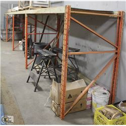 4 SECTION OF PALLET RACKING W/ 5 UPRIGHTS & 12