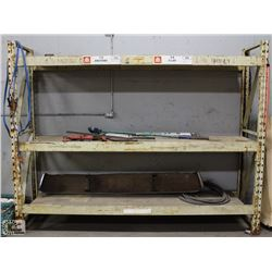 9' X  7' X 2' PALLET RACKING W/ 2 UPRIGHTS & 6