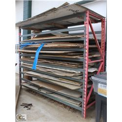 LOT OF ASSORTED PLYWOOD PIECES & PEGBOARD
