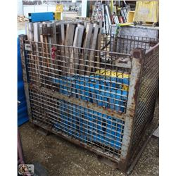 METAL CRATE OF ASSORTED SAFETY RAILING