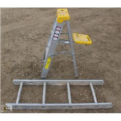 3 FOOT A-FRAME ALUMINUM STEP LADDER & 4 FOOT