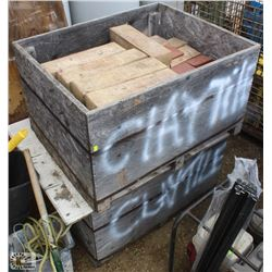 2 CRATES OF ASSORTED CLAY FLOOR TILES