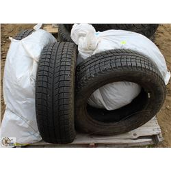 4 MICHELIN 195/65/R15 WINTER TIRES