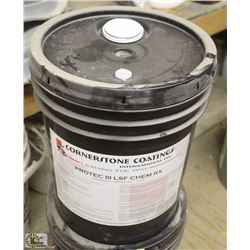 PAIL OF CORNERSTONE COATING CONCRETE DENSIFIER