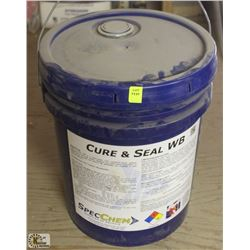 PAIL OF SPECCHEM CONCRETE CURE & SEAL WB