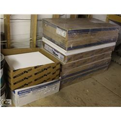 LOT OF ASSORTED SIZE CEILING TILES