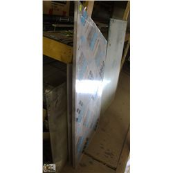 LOT OF  5 ASSORTED GLASS PANES & 10 PIECES OF
