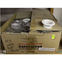 BOX OF RELIABLE RECESSED SPRINKLER CUPS