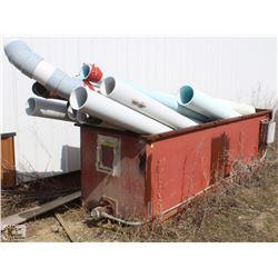 METAL TUBE FULL OF ASSORTED PVC PIPE