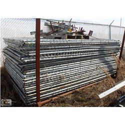 LOT OF APPROX. 30 TEMPORARY FENCE PANELS W/ LEGS