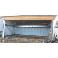 STEEL & WOOD BEAM OPEN FRONT LEAN-TO STORAGE